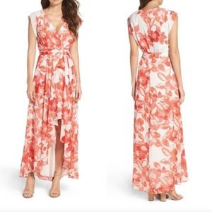 Eliza J Floral High Low Dress